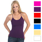3-pack: Ladies Lycra Long Tank Top Camisoles with Adjustable Straps