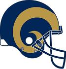 St. Louis Rams vehicle window or hard surface decal (LAMINATED)
