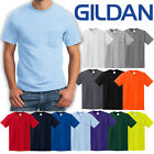 BIG MENS T-Shirt with POCKET Gildan 100% Preshrunk Cotton Tee 2XL, 3XL, 4XL, 5XL image