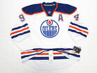 RYAN SMYTH EDMONTON OILERS AUTHENTIC AWAY REEBOK EDGE 7231 HOCKEY JERSEY