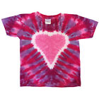 Groovy Blueberry Youth Tie-dye Lollipop Heart T-Shirt