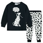 Pyjamas Girls Cotton Knit Pjs (Sz 3-7) Set Black & White Dreamy Puppy Sz 3 4 5 6