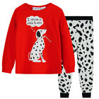 Pyjamas Girls Cotton Knit Pjs (Sz 3-7) Set Red & White Dreamy Puppy Sz 3 4 5 6 7