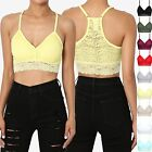 TheMogan Pretty Essential Lace Strappy Crop Bralette Top Cropped Camis
