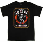 SOCIAL DISTORTION T-shirt Punk Rock Skeleton Logo Adult Mens   Black New  image