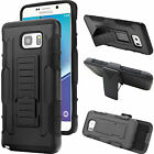 For Galaxy Note3 4 5 Armor Hybrid Kickstand Belt Clip phone Case Cover
