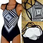 Sexy Women One Piece Swimsuit Swimwear Bathing Monokini Push Up Padded Bikini FO