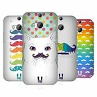 HEAD CASE DESIGNS RAINBOW MOUSTACHE HARD BACK CASE FOR HTC ONE M8