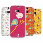 HEAD CASE DESIGNS BIRD PATTERNS SOFT GEL CASE FOR HTC ONE M8