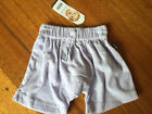 Baby Bonds roomies mauve 100% cotton shorts BNWT Size 000 and 00.