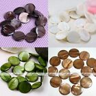25mm Mother Of Pearl MOP Shell Round Coin Loose Charm Beads Fit Jewelry DIY Gift