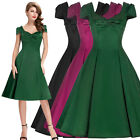New Black Red Green Tropical Prom 50's Style Homecoming Dress Plus Size Bnwot