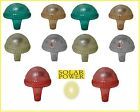 Cute Color Mushroom Solar Garden Lights LED 10 Pack Assorted or Choice Of Color