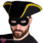 DLX HIGHWAYMAN FANCY DRESS TRICORN HAT AND MASK BOOK WEEK COSTUME DICK TURPIN