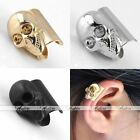 Korean Sytle Alloy Metal Punk Skull Earrings Ear Cuff Wrap Clip On No Piercing
