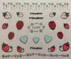 Nail Art 3D Decal Stickers Strawberry Hearts Stars Strawberries Fruit TJ197