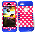 KoolKase Hybrid Silicone Cover Case for Apple iPhone 5 - Polka Dots Hot Pink
