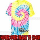 Mens Tie Dye T-Shirt NEON Rainbow Spiral Design S-XL 2XL 3XL 4XL Tye Died NEW image