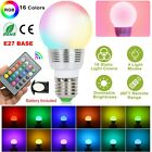 E27 3W RGB LED 16 Multi Color Magic Lamp Light Bulb + Wireless Remote Control