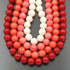 Natural White Red Croal Gemstone Round Beads 2mm 3mm 4mm 6mm 8mm Lot Freeshiping