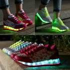 New LED Night Light Lace Up Trainers Sneakers USB Charge Women's Casual Shoes