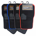 4 Piece Black Non Slip Universal Car Mats - Front & Rear Set