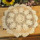 New 20'' 14'' Round Cotton Hand Crochet Doilies Placemats Coasters Doilies A14