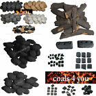 GAS FIRE REPLACEMENT COALS PEBBLES LOGS VERMICULITE EMBERS ALL MADE IN WALES