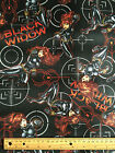 MARVEL BLACK WIDOW on black  : 100% cotton licensed fabric BT1/2M