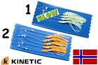 Kinetic Mini Squid-Vorfach leuchtend 5 x 2/0er Haken Norwegensystem Meeressystem