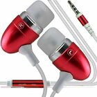 Red Premium Earphone Handsfree With Mic For Apple Iphone 6 Plus