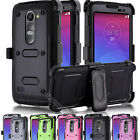 Rugged Hybrid Stand Hard Protective Holster Case Cover For LG Leon 4G LTE C40