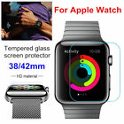 Slim Tempered Glass Film Screen Protector  Cover For Apple Watch 38/42mm 1X