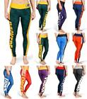 NFL Football Team Logo Womens Stripe Leggings - Pick Your Team!