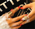 3pcs Womens Fashion Plain Band Knuckle punk style Finger Ring Adjustable