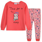 Pyjamas Girls Cotton Knit Pjs (Sz 8-14) Set Pink Cats Sz 8 10 12 14