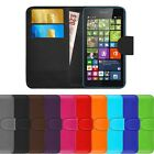 Leather Flip Cover For Microsoft Lumia 535 Wallet Phone Case + FREE Protector