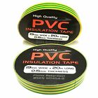 Yellow/Green Electrical PVC Insulation Tape - Insulating 19mm x 20m Earth