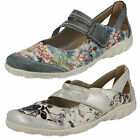 Ladies Remonte R3427 Multi Leather Casual Velcro Shoes