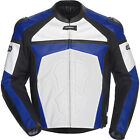 Cortech Adrenaline Leather Motorcycle Jacket Blue / White