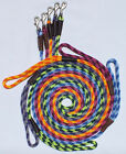 """Dog Snap/clip Leash/Lead. 3/8"""" by 1.2m/1.8m long rolled soft material 
