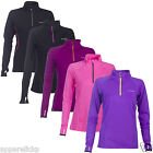 Soc Womens Gait Meshed Running Gym Sports Top Black Pink Lilac Long Sleeves