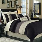 Hudson 12PC Bedding Set, Includes Comforter,Skirt,Decorative Pillows & Sheet Set image