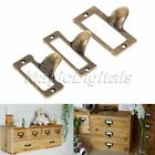 6Pcs Antique Brass Drawer Label Pull Cabinet Frame Handle File Name Card Holder