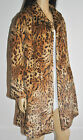 Womens Vintage Retro Style Classic Leopard Animal Print Faux Fur Coat New 14