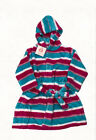 Pyjamas Girls Fleece Dressing Gown Robe (Sz 0-2) Pink Blue Stripe Sz 0 1 2