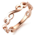 Rose Gold Simple design Stainless Steel Girls/Women Ring decorative pattern