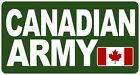 Canadian Army Rectangle Decal / Sticker