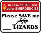 In Case of Fire Save My Lizards Decals / Stickers