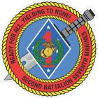USMC Marine Corps 2nd Battalion 7th Marine Regiment Decal / Sticker